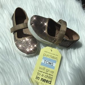 ... NEW Toms Girls Mary Jane Gold Iridescent Shoes NWT ... af7cb192b